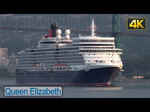 Queen Elizabeth Cruise Ship early morning arrival in Vancouver