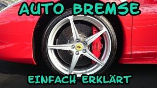Wie funktioniert die Bremse am Auto - Bremssattel Aufbau erklärt Tutorial   Anleitung
