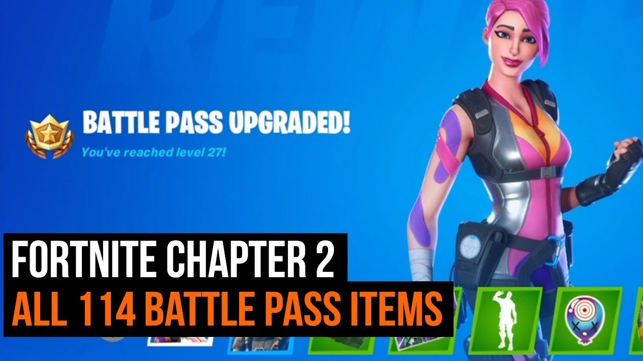 Fortnite Chapter 2 Season 1 All 114 Battle Pass Items