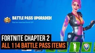 Fortnite Chapter 2 Season 1   All 114 Battle Pass Items