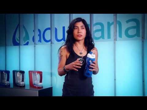 b6b90174da Aquasana Glass Filter Bottle Filtration that actually works - YouTube