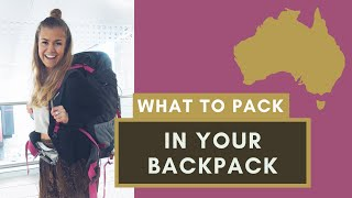 WHAT TO PACK IN YOUR BACKPACK | Where
