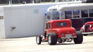 NASTY HOT ROD START UP AND DRIVE OFF*LITTLE DEUCE COUPE* GORGEOUS