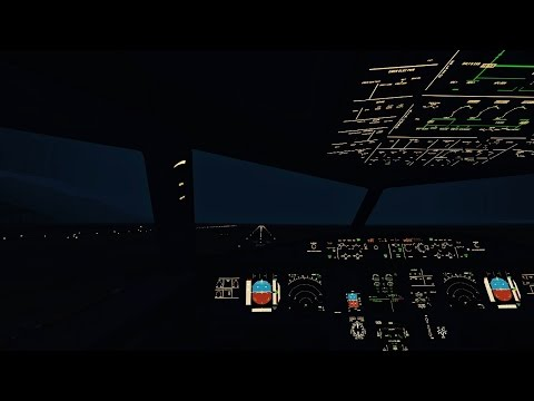 Infinite Flight Airbus A321 Tukish Airlines livery - Night Flight