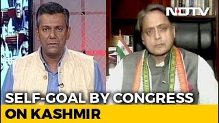 Shashi Tharoor On A Divided Congress Over Centre& 39 s Kashmir Move