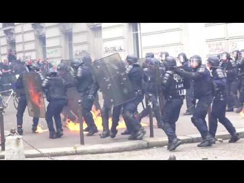 Paris 14.06.2016 - Protests against new labour law