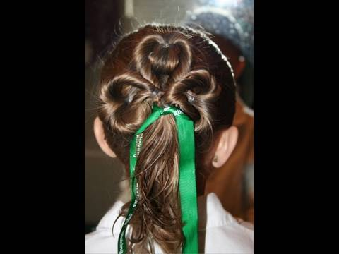 cute girls hair styles com three leaf clover st s day 4785 | hqdefault