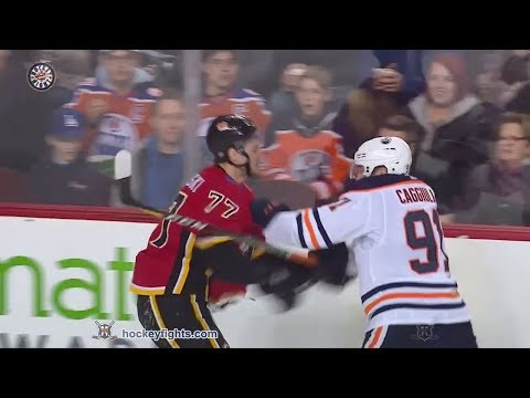 Drake Caggiula vs Mark Jankowski Mar 31, 2018
