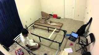 Assembling The Wood Slat Bed Frame