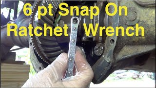 Pinion Shaft bolt freed with 6pt Snap-On  ratchet