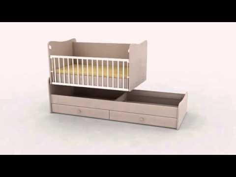 39 konver evolution kube 39 lit de b b transformable alo doovi. Black Bedroom Furniture Sets. Home Design Ideas