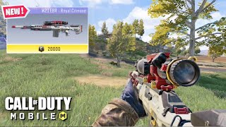 M21 EBR - ROYAL CRIMSON SNIPER GAMEPLAY in CALL OF DUTY MOBILE BATTLE ROYALE 60 FPS