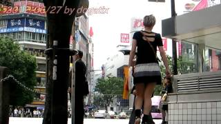 渋谷 交差点 東京 日本旅行 UNIQLO H&M shibuya 109 Scramble crossing Tokyo Japan (1)