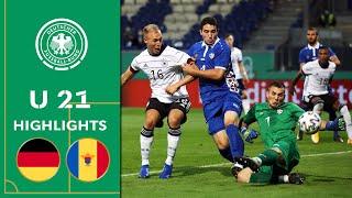 Torreicher Restart der U 21 | Deutschland - Moldau 4:1 | Highlights | U 21 EM-Qualifikation