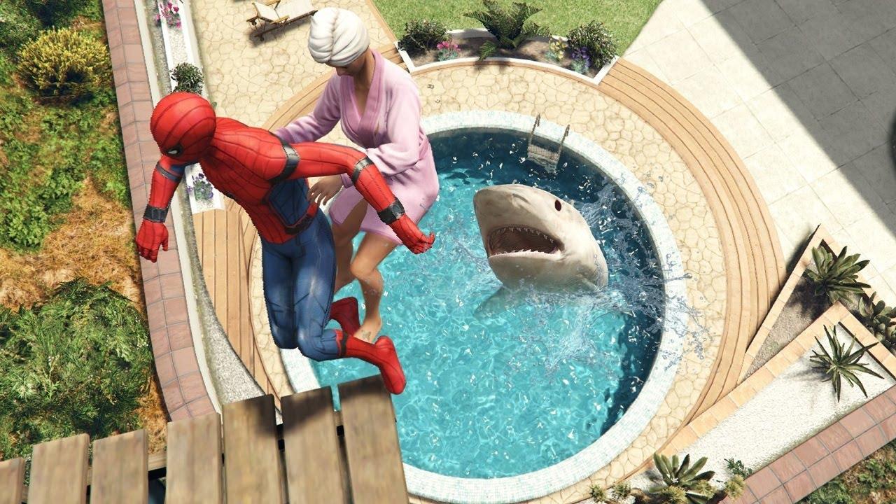 GTA 5 Epic Ragdolls | SPIDERMAN ep.97 (Funny Moments)