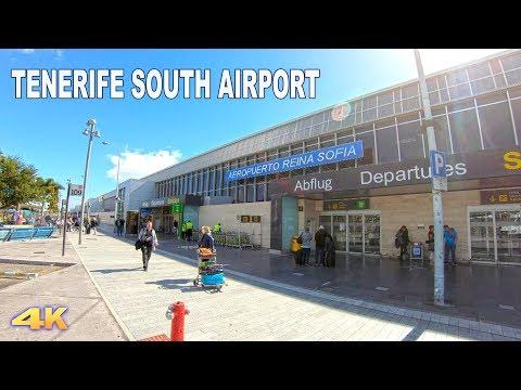 TENERIFE AIRPORT - SOUTH REINA SOFIA 2018 4K