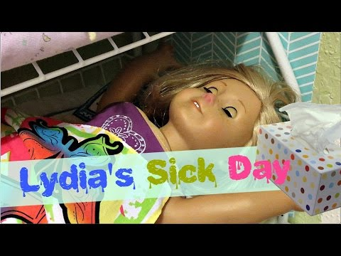 LYDIA'S SICK DAY! Agsm American Girl Doll Stop Motion | White Fox Stopmotion