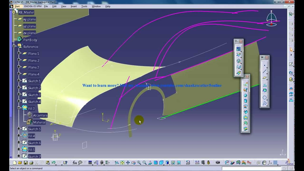 Catia V5 Powerful Tricks 139 Extrapolating Surfaces And