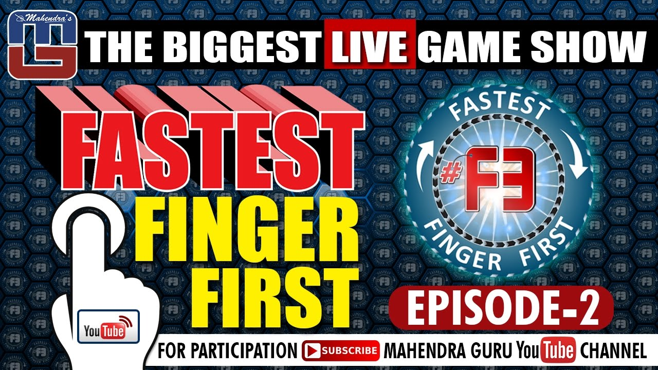 f3 fastest finger first episode 02 18th january 2017 f3 live every wednesday at 10. Black Bedroom Furniture Sets. Home Design Ideas