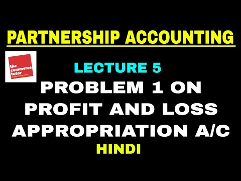 Partnership Accounting | Problem 1 on Profit and Loss Appropriation Account (Hindi)