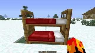 Как сделать двухярусную кровать в Minecraft