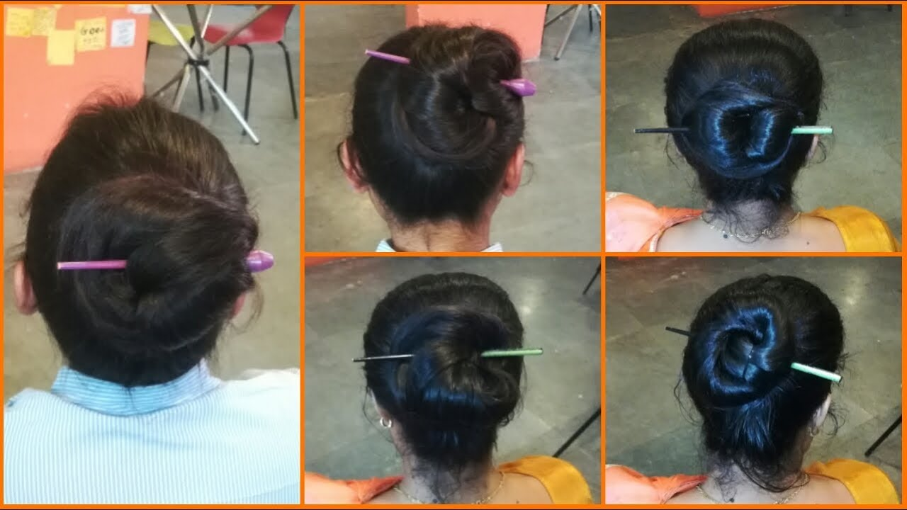 Bun Hairstyle With Chinese Bun Stick Very Easy Chinese Bun Hairstyles