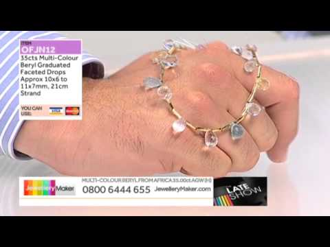 Blue Pearls for JewelleryMaker LIVE 26/07/2014