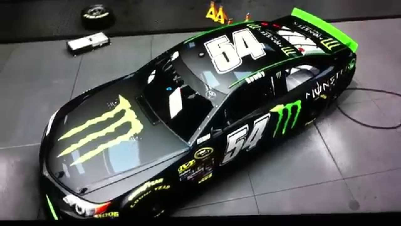 NASCAR 14 Kyle Busch Monster paint scheme - YouTube