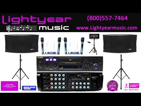 Karaoke System, Youtube Karaoke Machine, Home Karaoke, Bluetooth, Lightyearmusic 800-557-7464 ✅