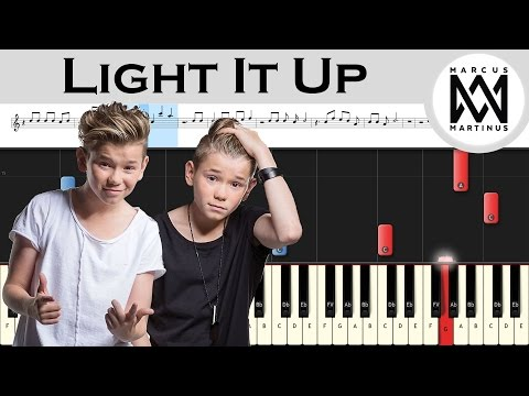 Marcus & Martinus - Light It Up ft. Samantha J. - Piano tutorial