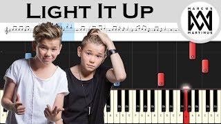 Marcus & Martinus - Light It Up ft. Samantha J. - Piano tutorial