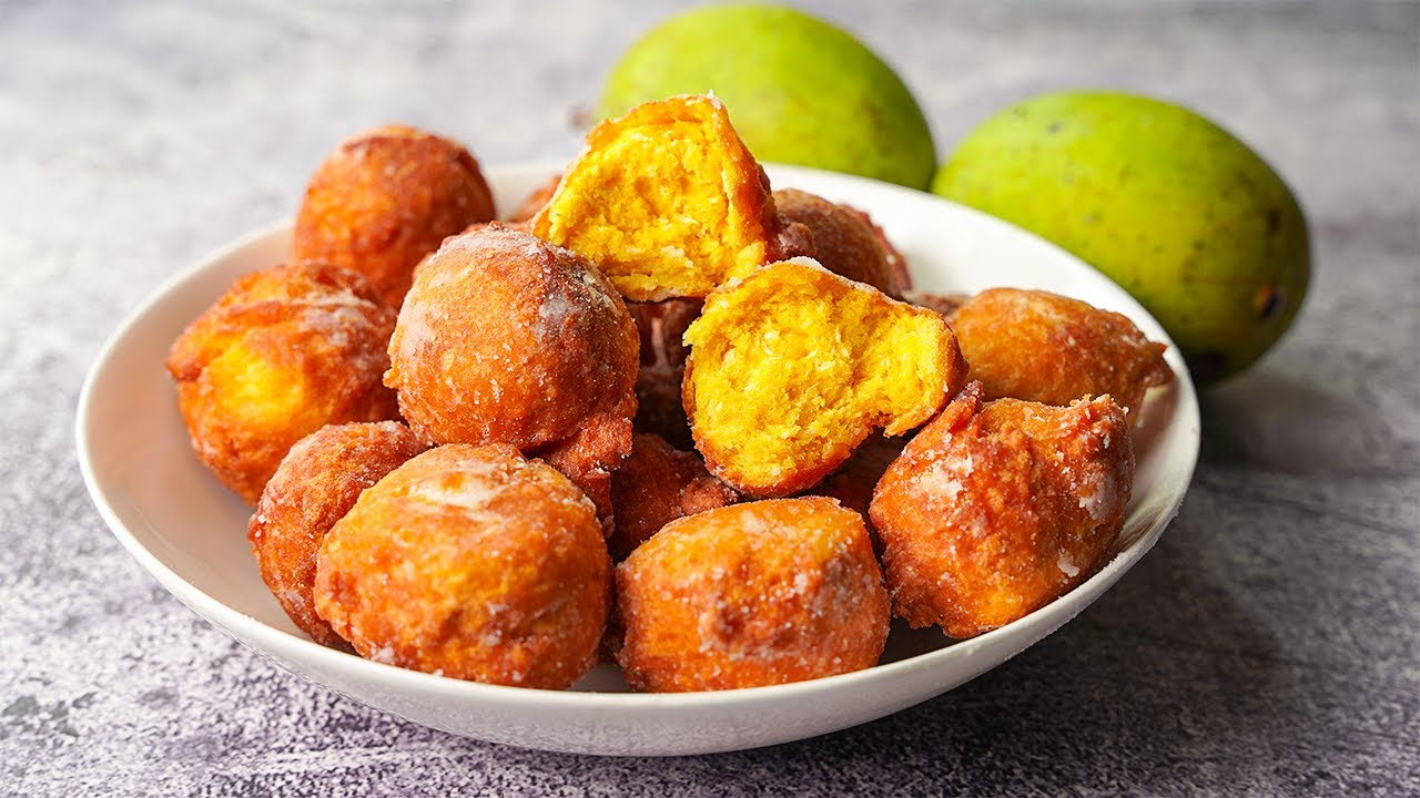 Mango Fritters Perfect For Afternoon or Evening Snacks   Easy Mango Fritters Recipe   Yummy