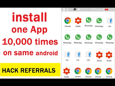 How To Install One App 10,000 Times On Same Android | Install One App Mutliple Times