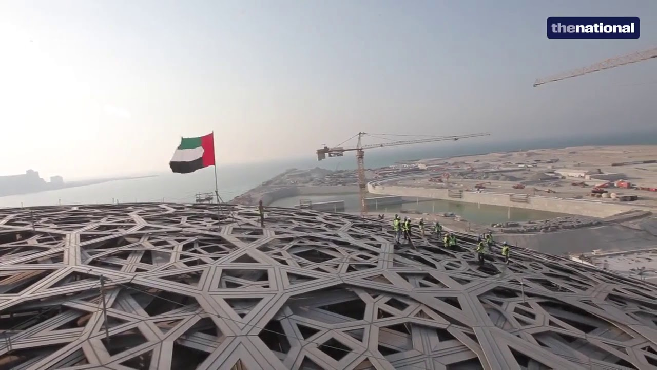 The canopy of Louvre Abu Dhabi & The canopy of Louvre Abu Dhabi - YouTube