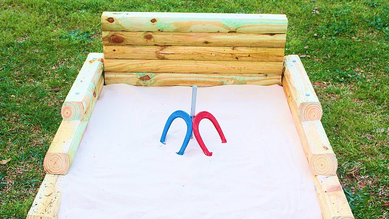 Simple Diy Outdoor Horseshoes Game Pit