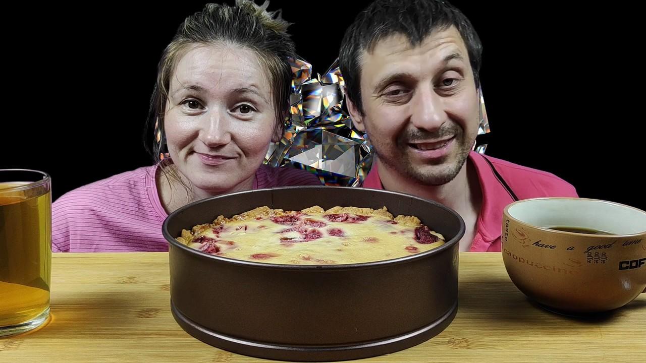 МУКБАНГ КЛУБНИЧНЫЙ ЧИЗКЕЙК | MUKBANG STRAWBERRY CHEESECAKE #cheesecake #mukbang #asmrrussia #мукбанг