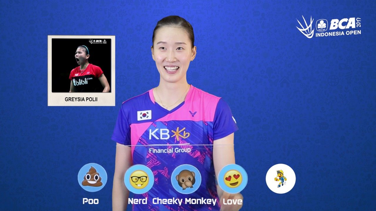 Chang Ye Na Emoji Players at BCA Indonesia Open 2017