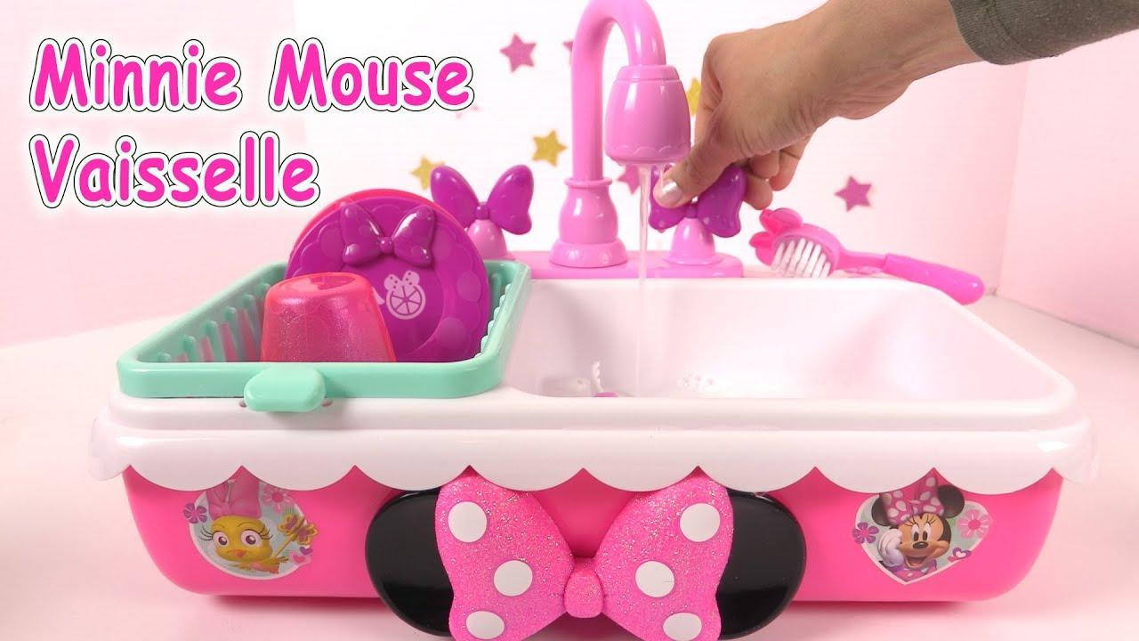 cuisine minnie mouse vaisselle evier pour enfants kitchen sink set