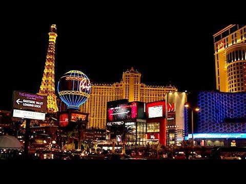 Walking on Las Vegas Strip Night time