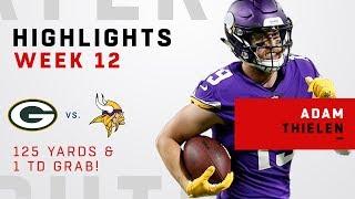 Adam Thielen Highlights vs. Packers