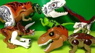 Hybrid Dinosaur Toys  - Lego Jurassic World Mutant Dinosaurs - Indominus Rex, Triceratops, T Rex