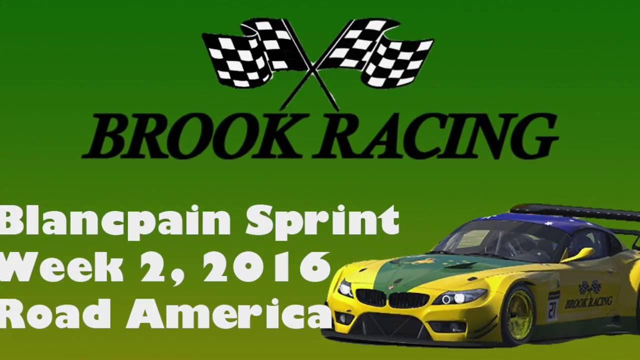 iRacing Blancpain Sprint Week2, Season 3 @Road America