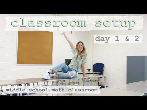 New Classroom Set Up Day 1 & 2 (Middle School Math Teacher)