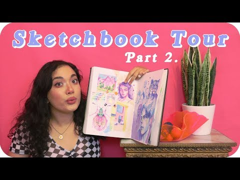 Finishing a sketchbook cover to cover! [Sketchbook Tour 2018