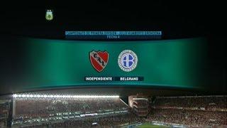Fútbol en vivo. Independiente - Belgrano. Fecha 4. Torneo de Primera División. FPT.