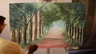 How to Draw - The Sun Ray & The Fog Playing - Oil painting