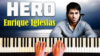 Enrique Iglesias - Hero. Урок фортепиано + ноты