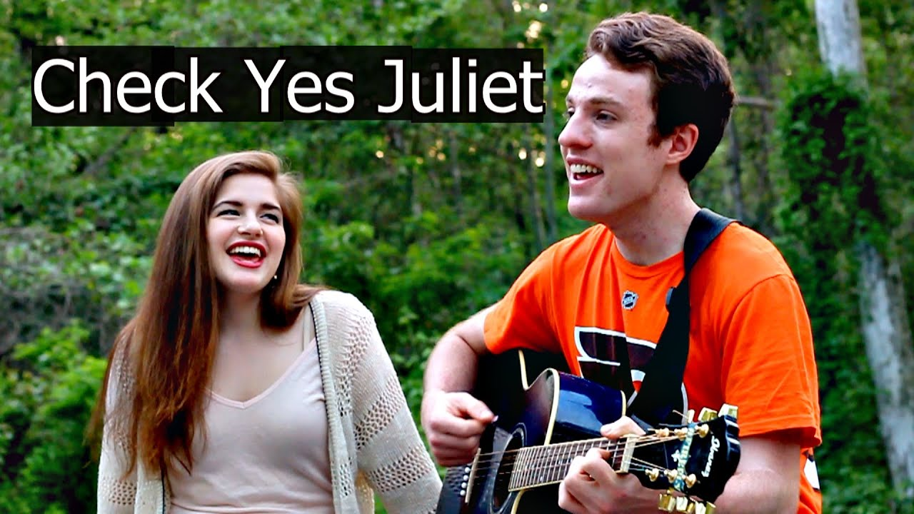 Check Yes Juliet   We The Kings Acoustic Cover   Lyrics   Craig & Olivia