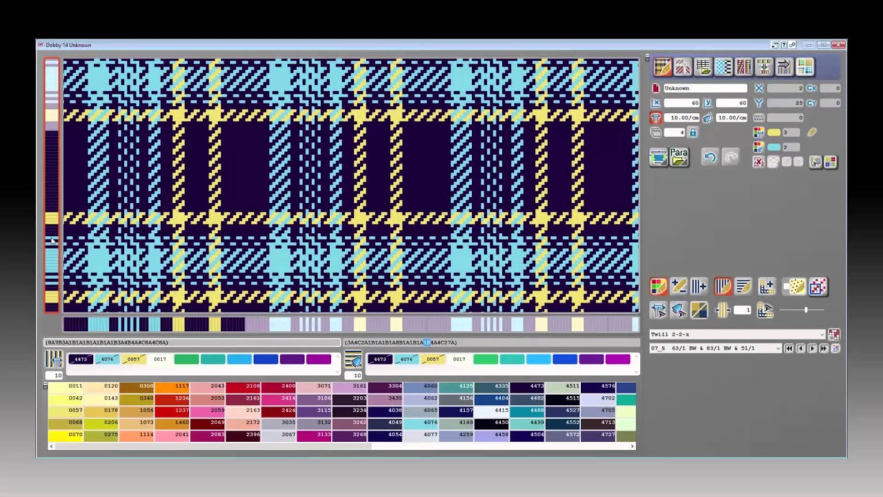 EAT CAD/CAM textile software / Dobby Editor Version 14 - YouTube
