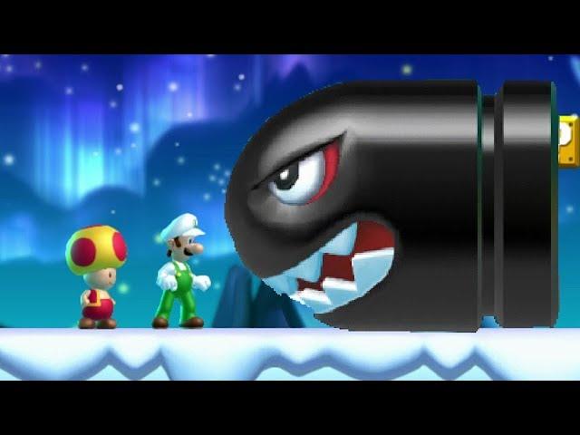 New Super Luigi U Co-op Walkthrough - World 4 Frosted Glacier (All Star Coins)